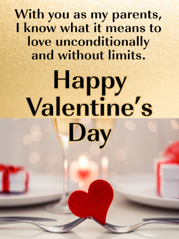 Unconditional Love Happy Valentine S Day Card For Parents Birthday Greeting Cards By Davia Happy Valentines Day Mom Funny Valentines Cards Happy Valentines Day
