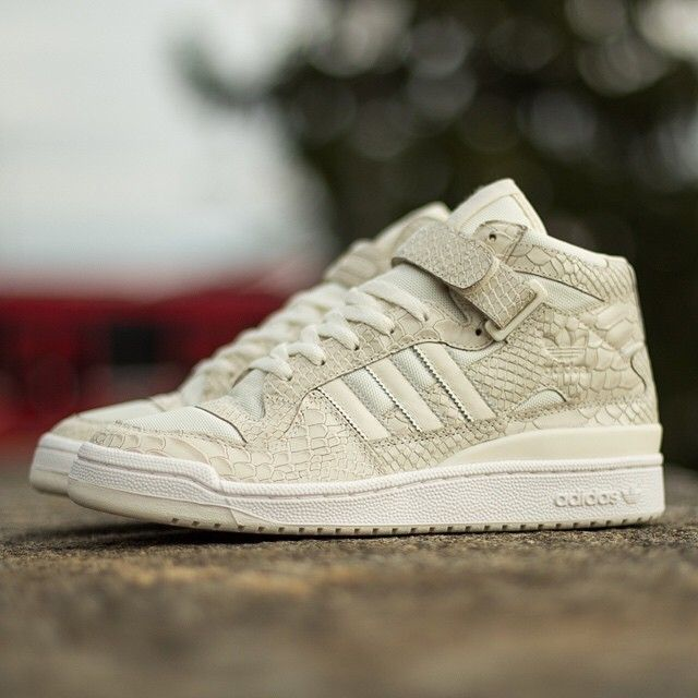"best sneakers ab2d8 94984 ""Adidas Forum Mid is bringing white Python, too. More details in the Adidas  category on sneakernews.com"""
