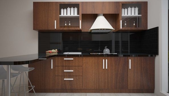 parallel modular kitchen interior with breakfast commercial space design flat interior on kitchen interior parallel id=75901