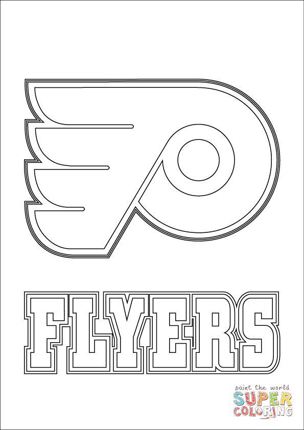 Philadelphia Flyers Logo Coloring Page Supercoloring Com