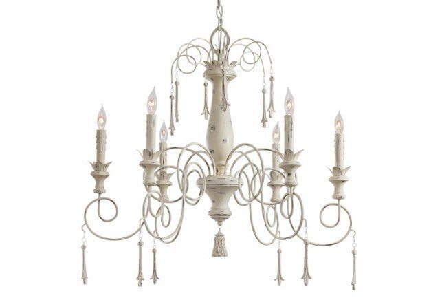 "Provence 5-Light Chandelier, Large  Made of: steel/poly Size: 29""Dia x 26.5""H"