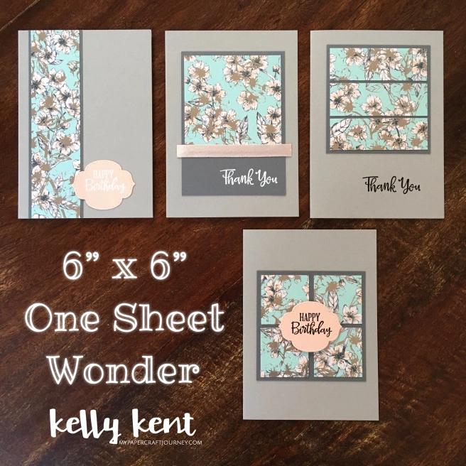 One Sheet Wonder Template | 6″ x 6″
