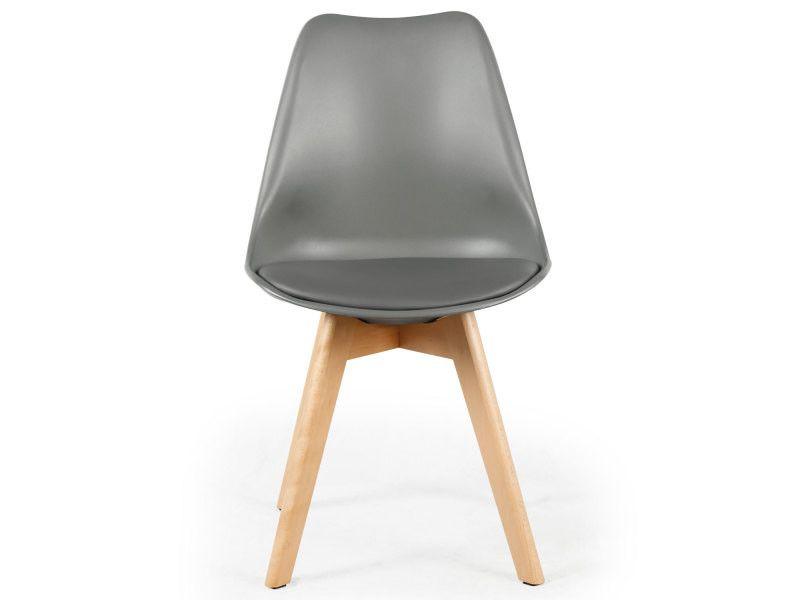 Lot De 4 Chaises Style Scandinave Bovary Gris Vente De Menzzo Conforama En 2020 Chaise 4 Chaises Chaise Plastique