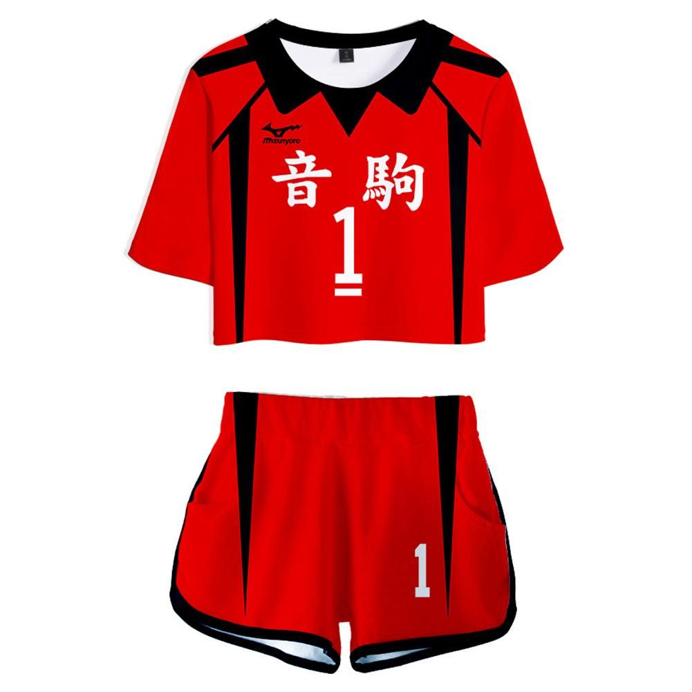 Haikyuu Nekoma High School No 1 Kuroo Tetsurou Jersey Sports Wear Unif New Cosplaysky In 2020 Haikyuu Cosplay Cosplay Shirt Casual Sets