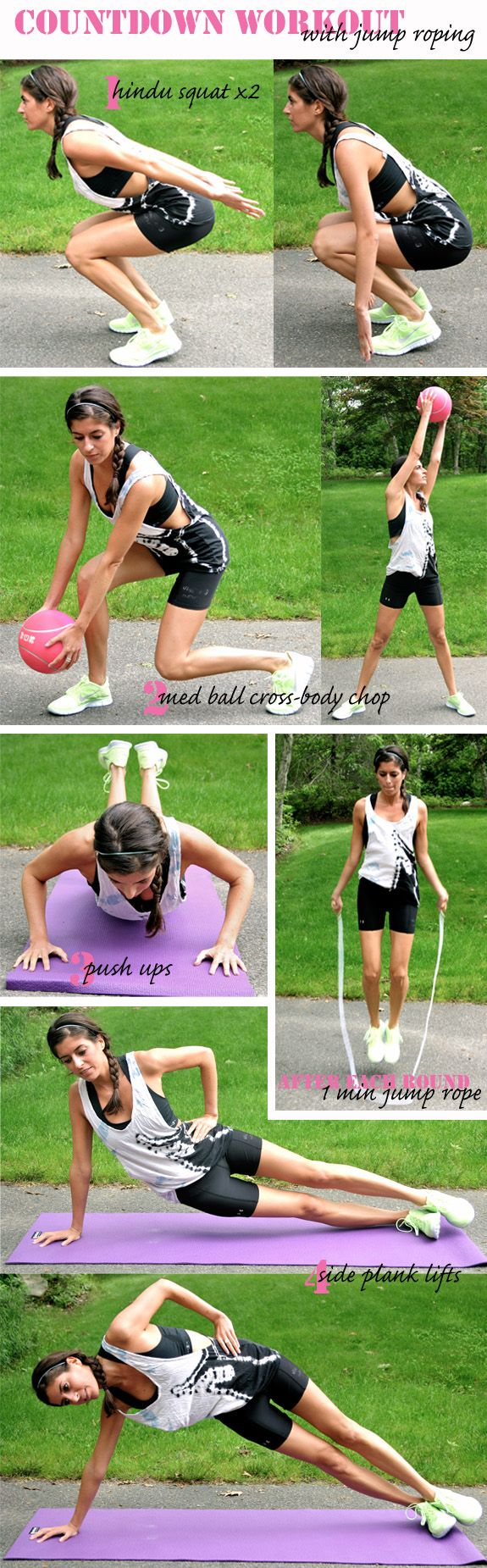 countdown workout with jump roping intervals