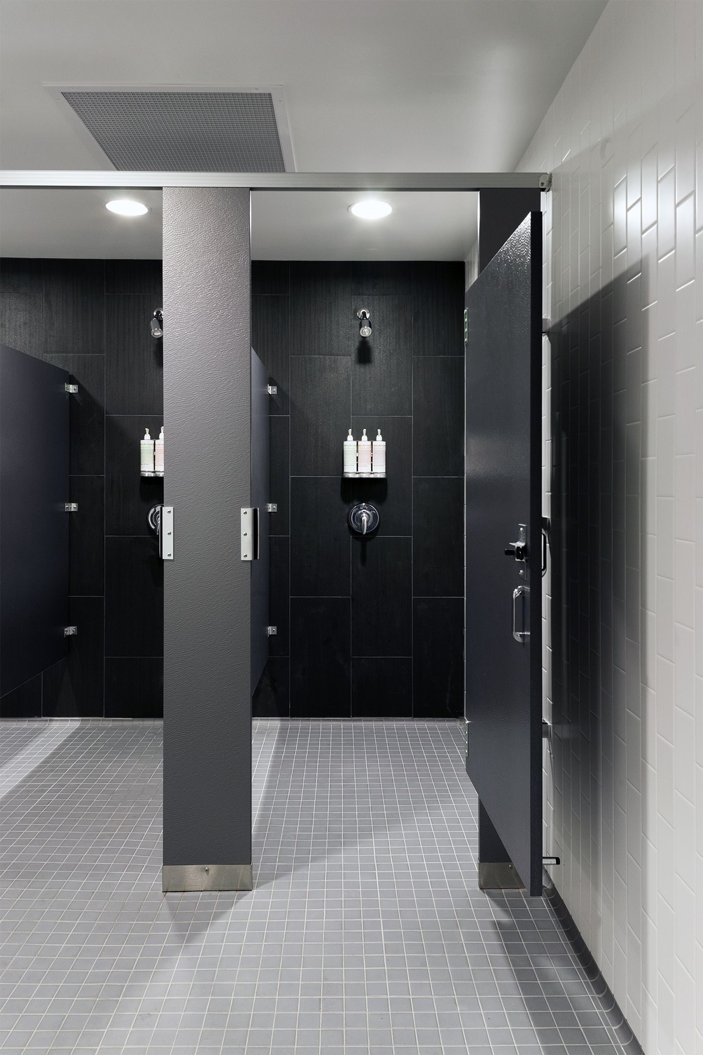 Shower Room In 2019 Locker Room Shower Gym Showers