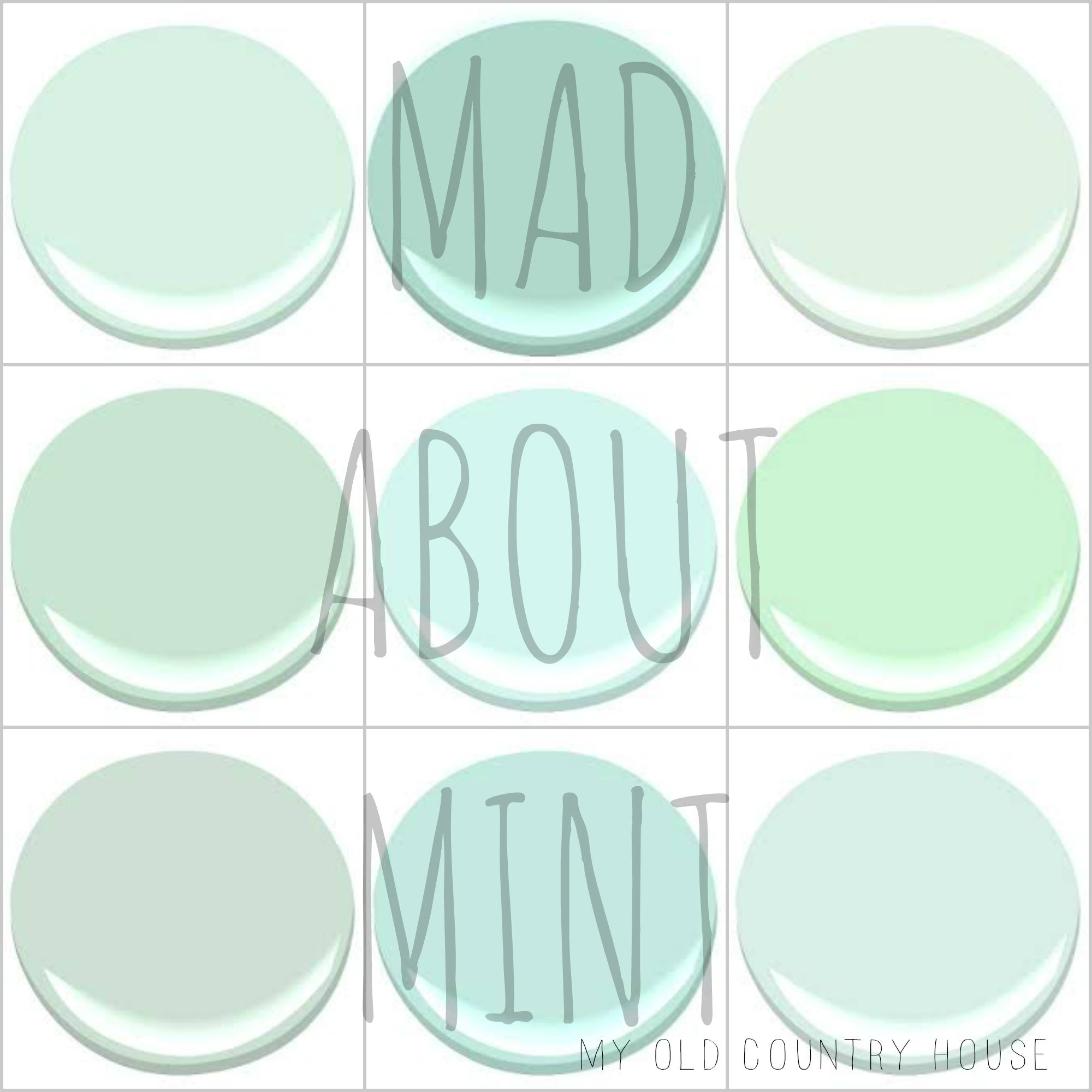 My 9 Favorite Benjamin Moore Mint Greens Cool Mint Copper