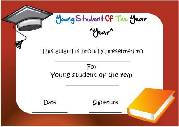 Young student of the year award certificate student of the year young student of the year award certificate yelopaper Image collections