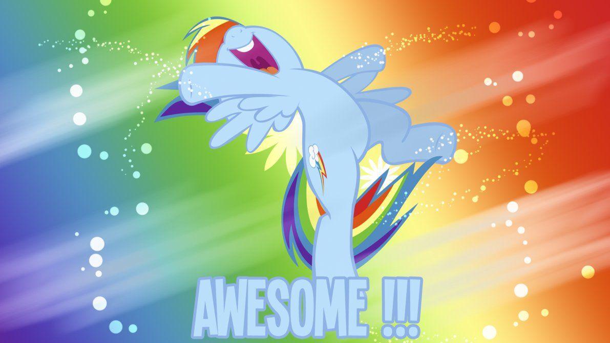 Awesome Rainbow Dash Wallpaper By Bluedragonhans Rainbow Dash