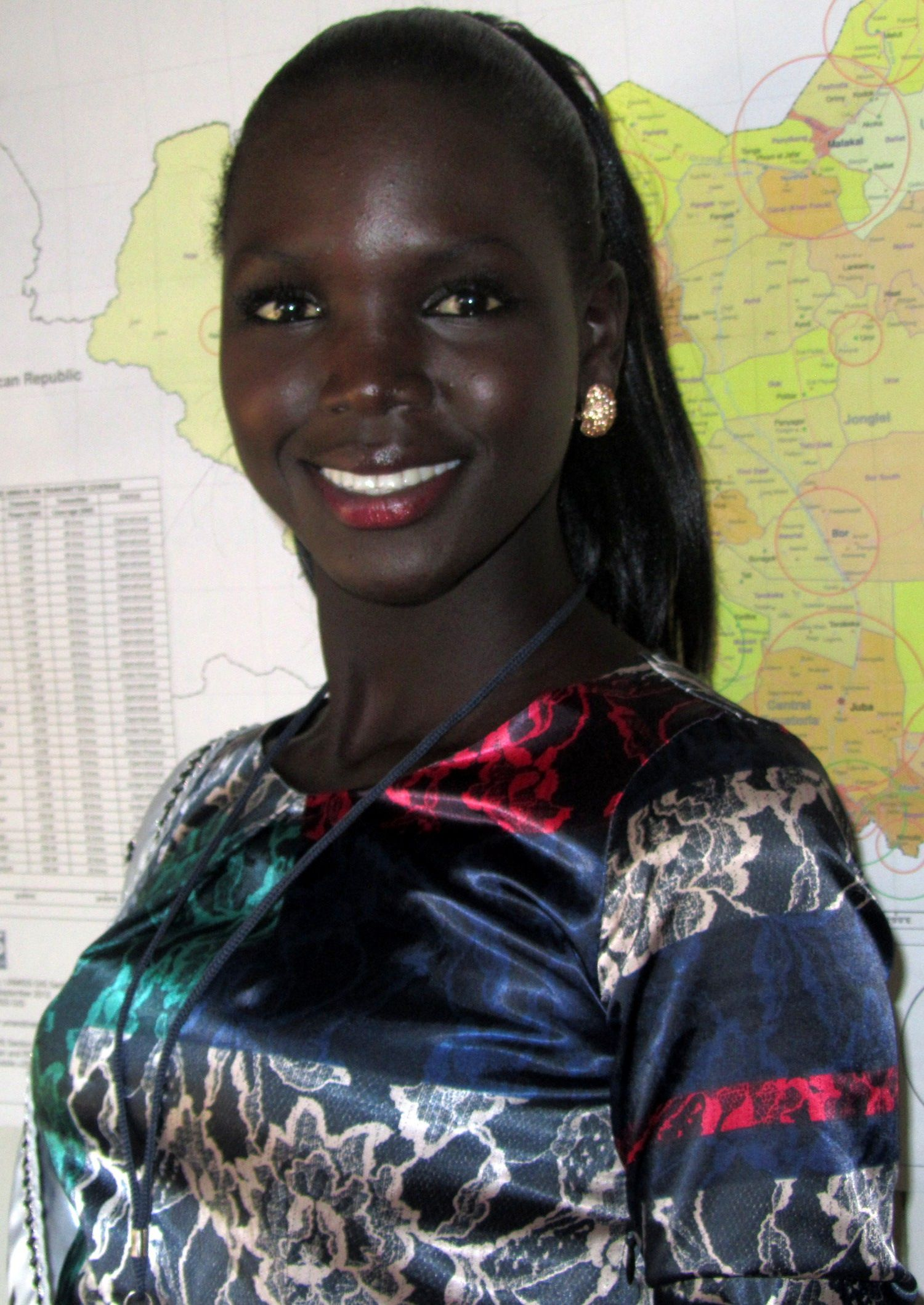 Miss World South Sudan, Modong Manuela Moga, Carries The -2116