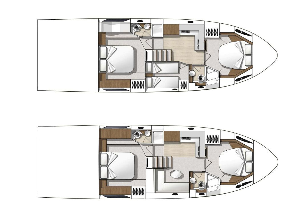 The Beneteau Gran Turismo 49 Comes In Two Accommodation Versions A Two Or Three Stateroom Layout Is Offered Both With Two Hea Moving Home Layout Small Living