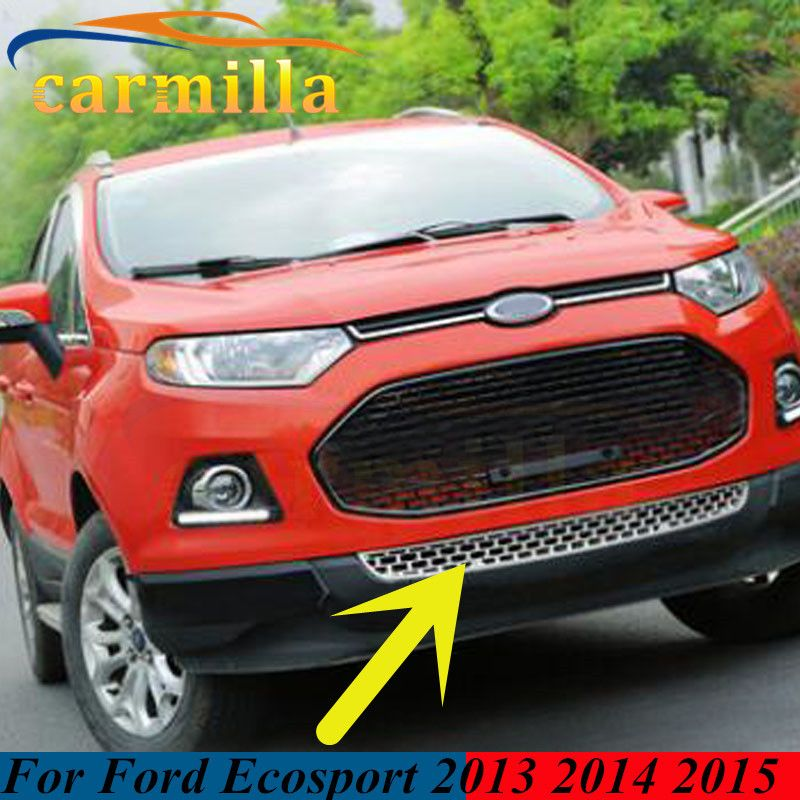 Colors Choices Abs Chrome Glossy Grille Car Front Face Small Down Grill For Ford Ecosport    Accessories