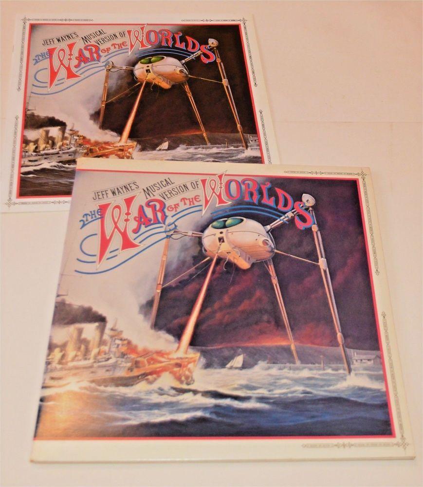 Jeff Waynes War Of The Worlds Double Vinyl Lp Booklet Cbs 96000 Vinyl War Of The Worlds Vinyl Records