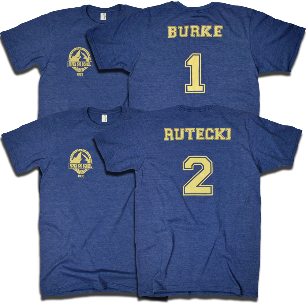 Aspen Extreme 1993 TJ Burke & Dexter Rutecki tees by Backpage Press #ski