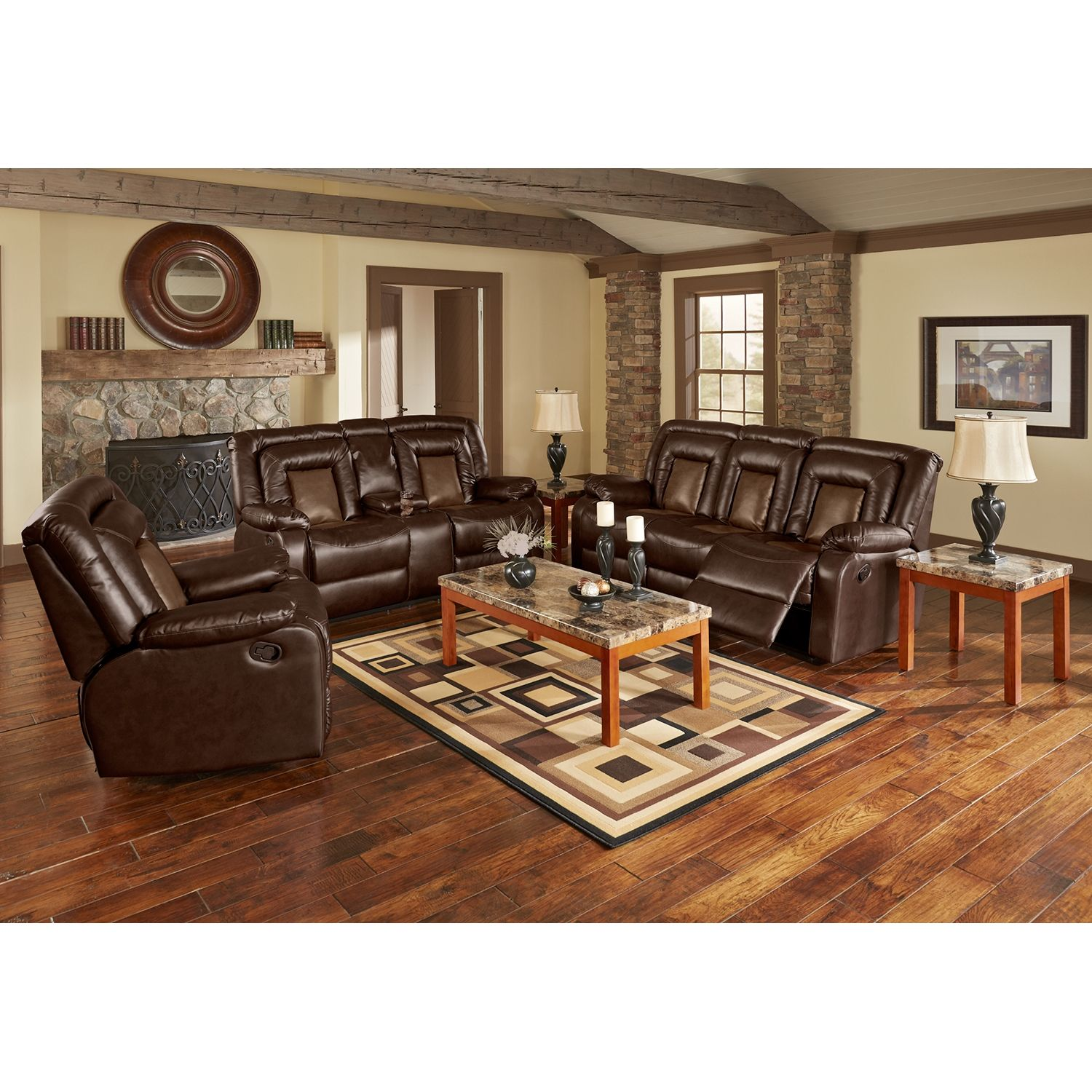 Living room furniture cobra 2 pc reclining living room