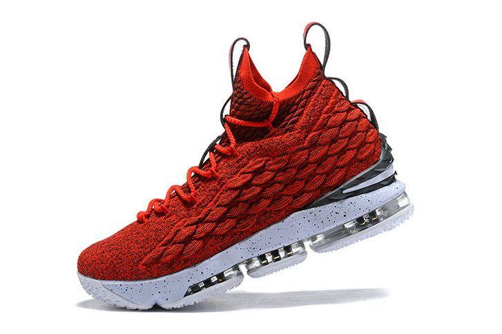 3d6532debd529 2018 Official Nike LeBron XV EP 15 Varsity Red White James Mens Basketball  Shoes