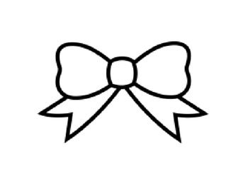 Gifting Story Elements Bow Clipart Bow Drawing Coloring Pages