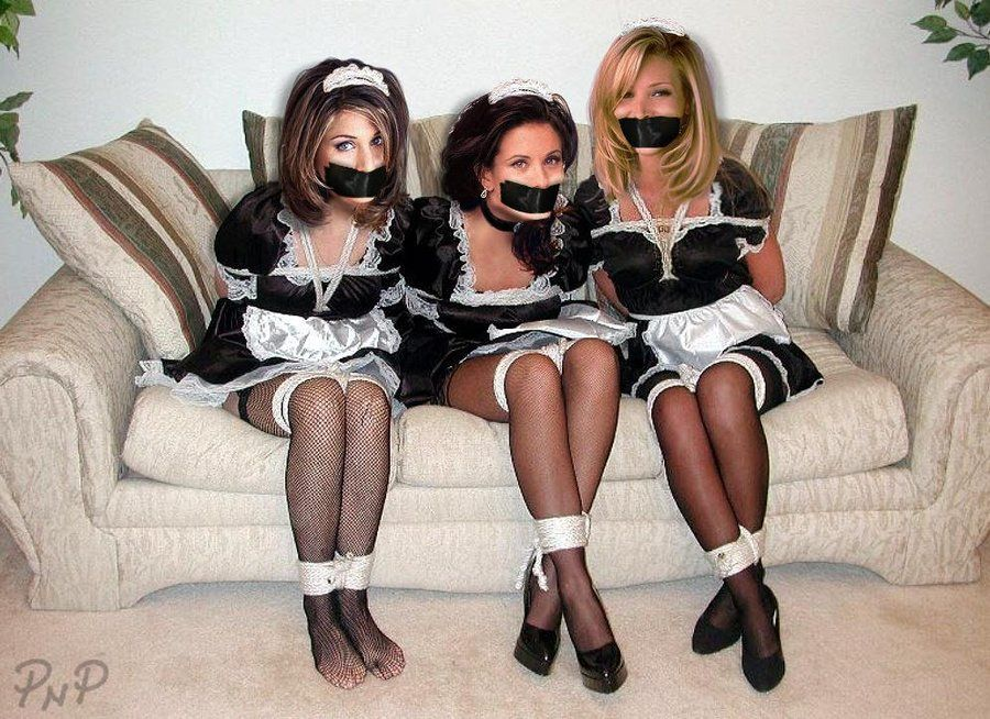 Bound and gagged female