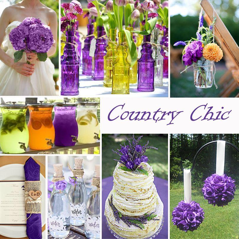 Purple Wedding Color - Combination Options