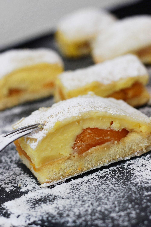 Blätterteigkuchen mit Vanillepudding #löffelbiskuitrezept