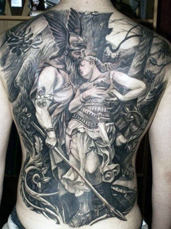 Top 57 Best Odin Tattoo Ideas 2020 Inspiration Guide Warrior Tattoos Warrior Tattoo Full Back Tattoos