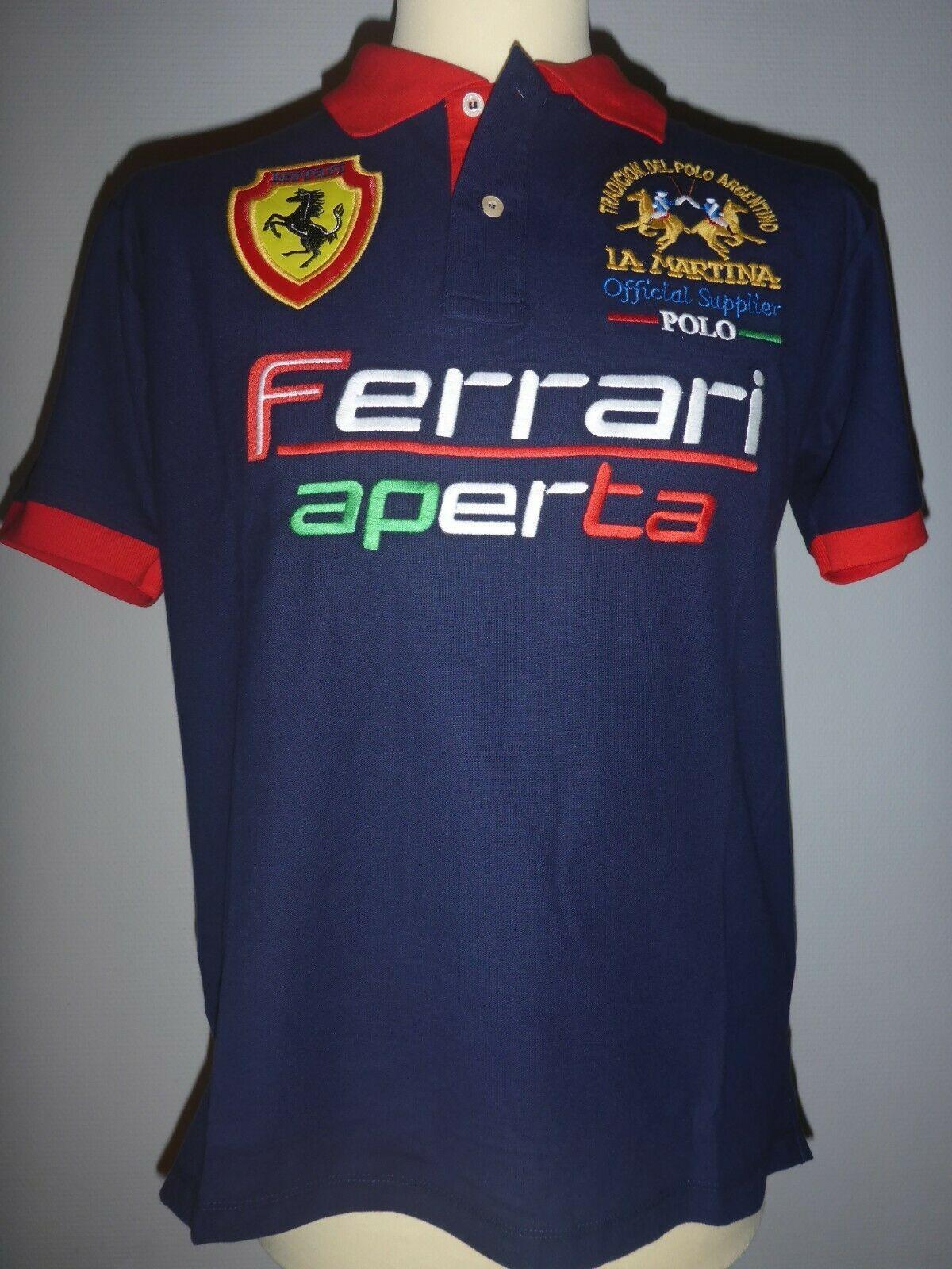 La Martina Herren Polo Shirt Gr M Dunkelblau Brandneu Ferrari Aperta Polo Polo Shirt Shirts