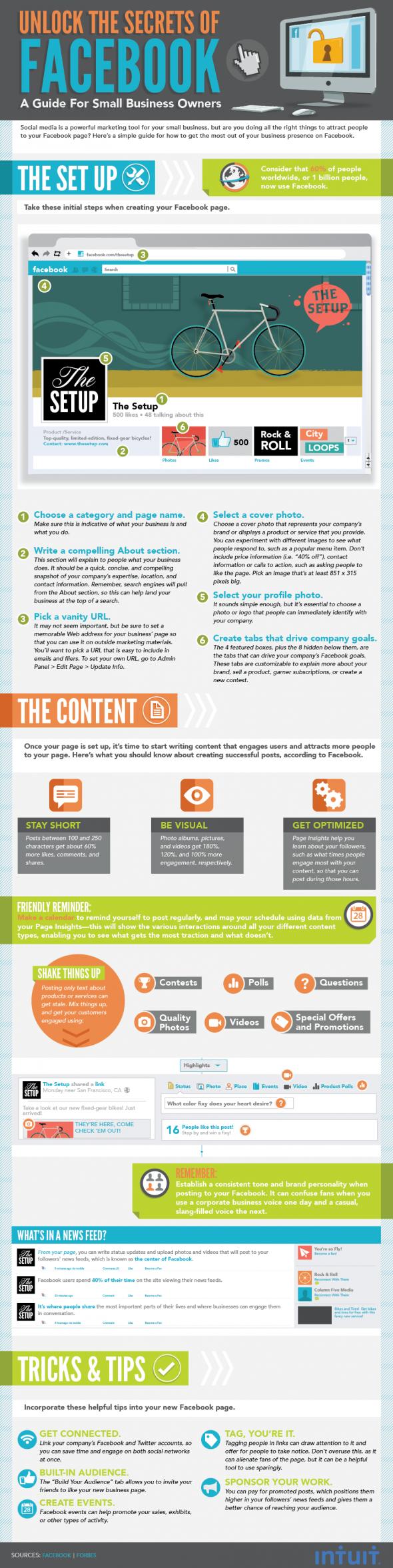 Unlock The Secrets Of #Facebook - A Guide For #SmallBusinesses - #infographic #socialmediamarketing