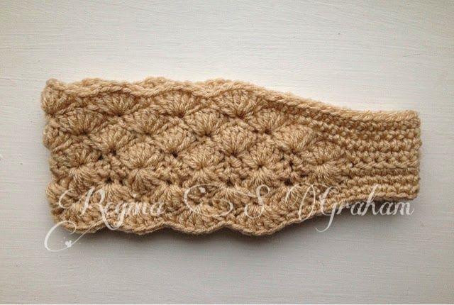Hooks And Heels Double Shell Headband Crochet Headbandearwarmer