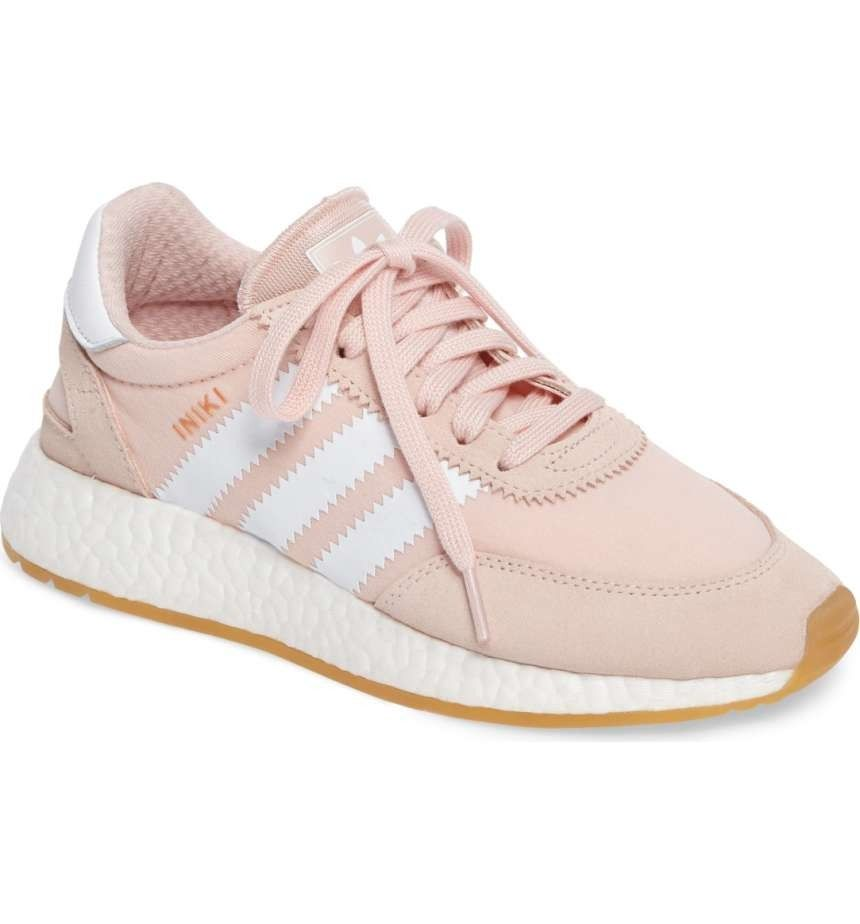 e5c54b0f4fa5 Currently obsessing over these Adidas running shoes in a pastel pink ...