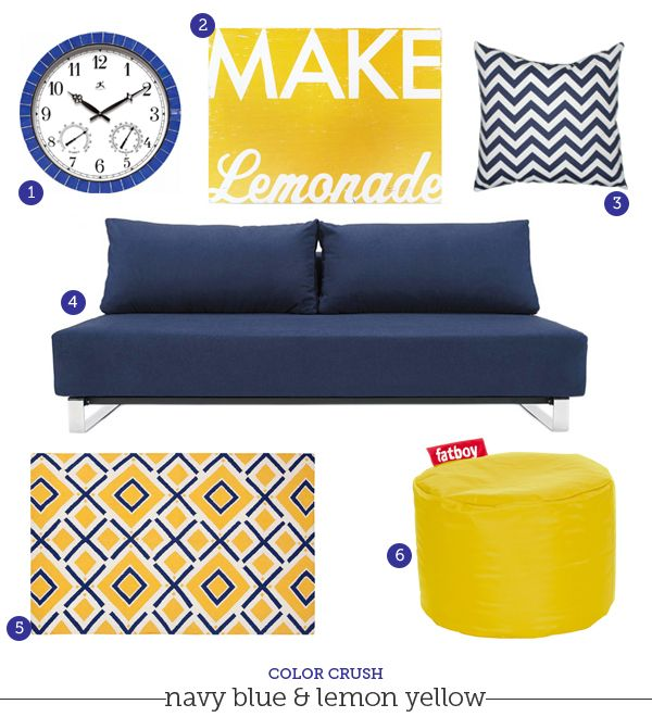 color combo crush navy blue and yellow pure inspiration color combos pinterest color. Black Bedroom Furniture Sets. Home Design Ideas