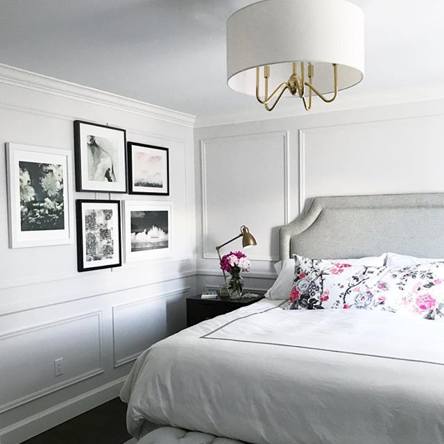 Best Vanessa Francis Design Bedroom With Moulding Art Wall 400 x 300