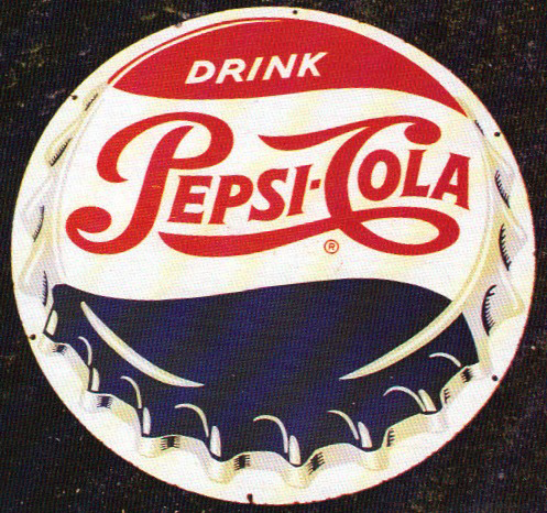 Pepsi Cola Drink Cap Porcelain Sign Porcelain Signs Pepsi Cola Pepsi Cola Drinks