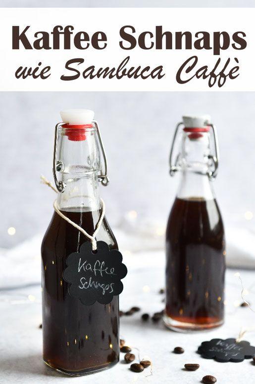 Selbst gemachter Sambuca Caffè. Kaffee-Schnaps. #easymixeddrinkrecipes