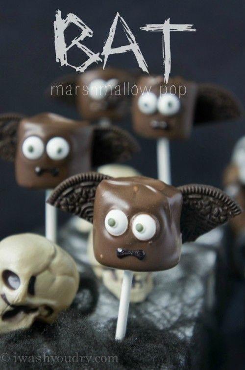Halloween Marshmallow Pops #halloweenfood