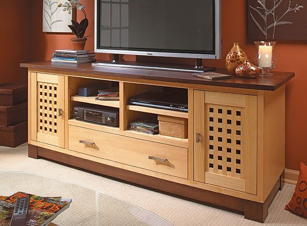 Wide screen tv cabinet woodworking plan tv stands pinterest tv stands wide screen tv and - Media consoles for small spaces plan ...