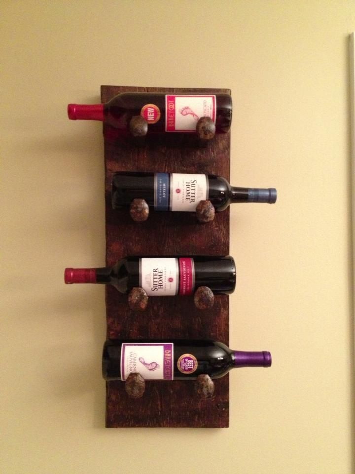 Railroad Spike wine rack made from salvaged