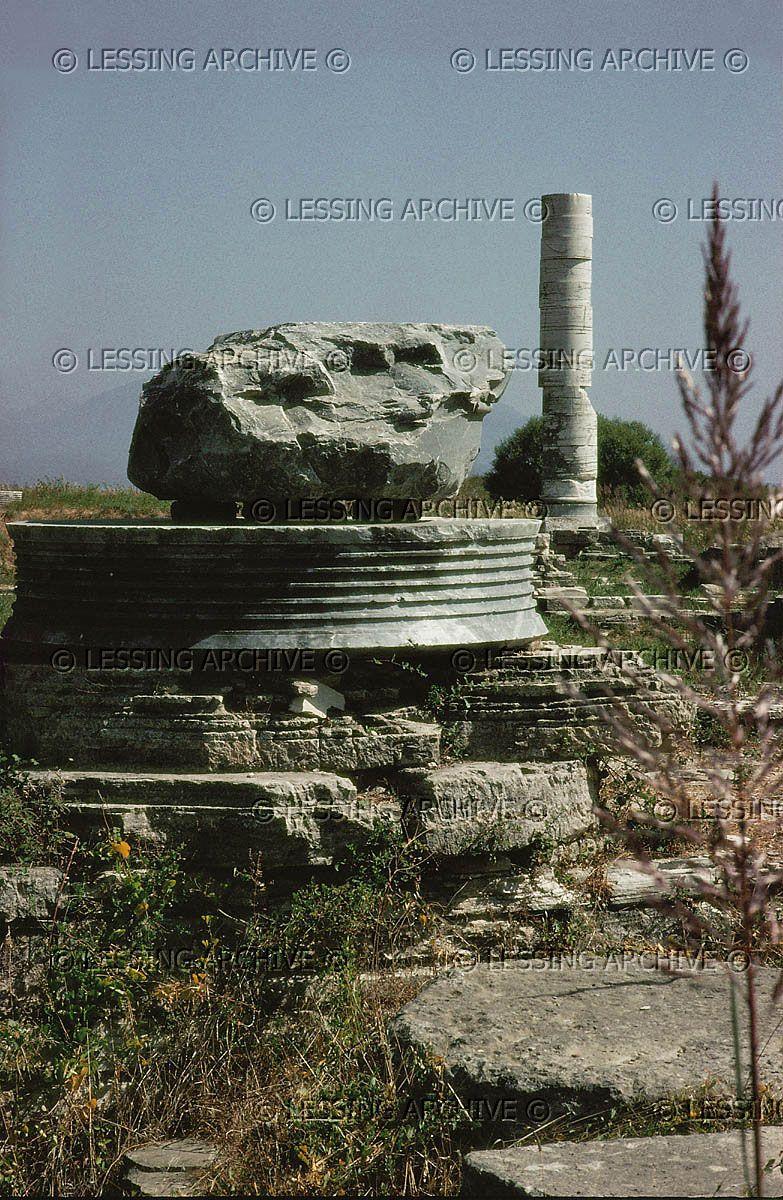 Temple Of Hera On The Island Of Samos According Samos Island Greek Myths