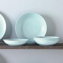 wholeHome®/MD \u0027White Croco\u0027 20-Piece Porcelain Dinnerware Set   Sears & wholeHome®/MD \u0027White Croco\u0027 20-Piece Porcelain Dinnerware Set ...