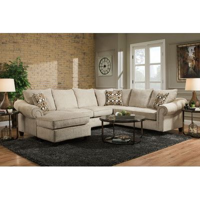 Chelsea Home Edgar Sectional Orientation Left Hand Facing