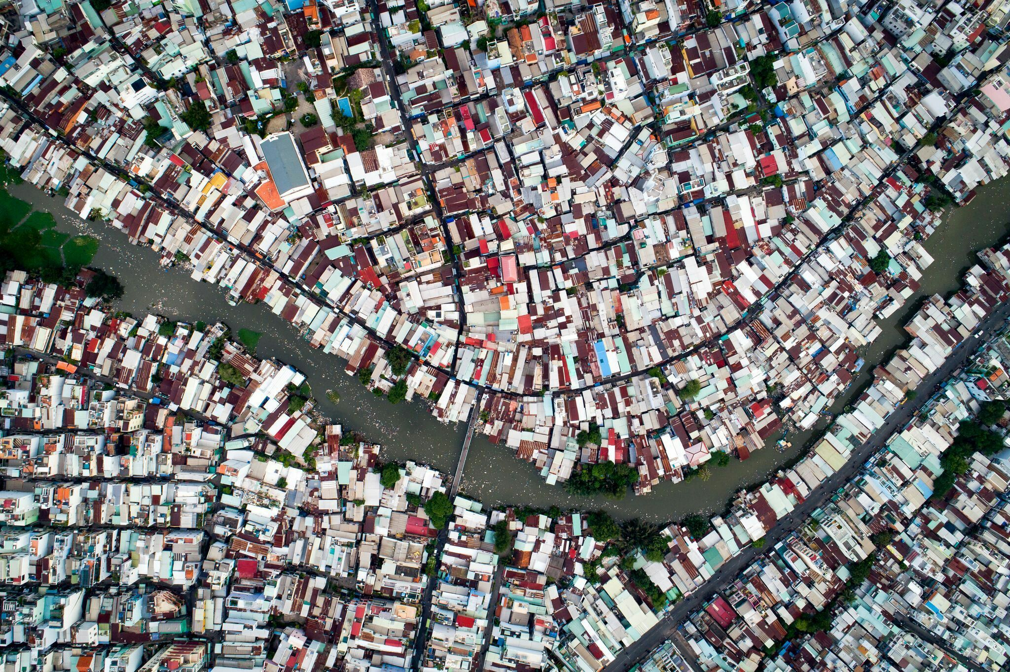 The Sprawl From Above This Neighborhood In Ho Chi Minh City