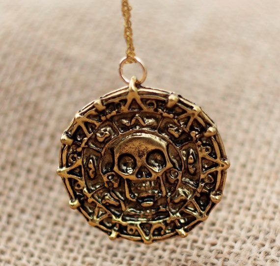 Pirates of the Caribbean Aztec Gold Coin Necklace Accessorize