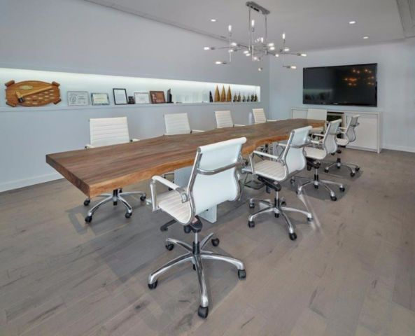 16ft Live Edge Black Walnut Conference Table On Steel And Quartz