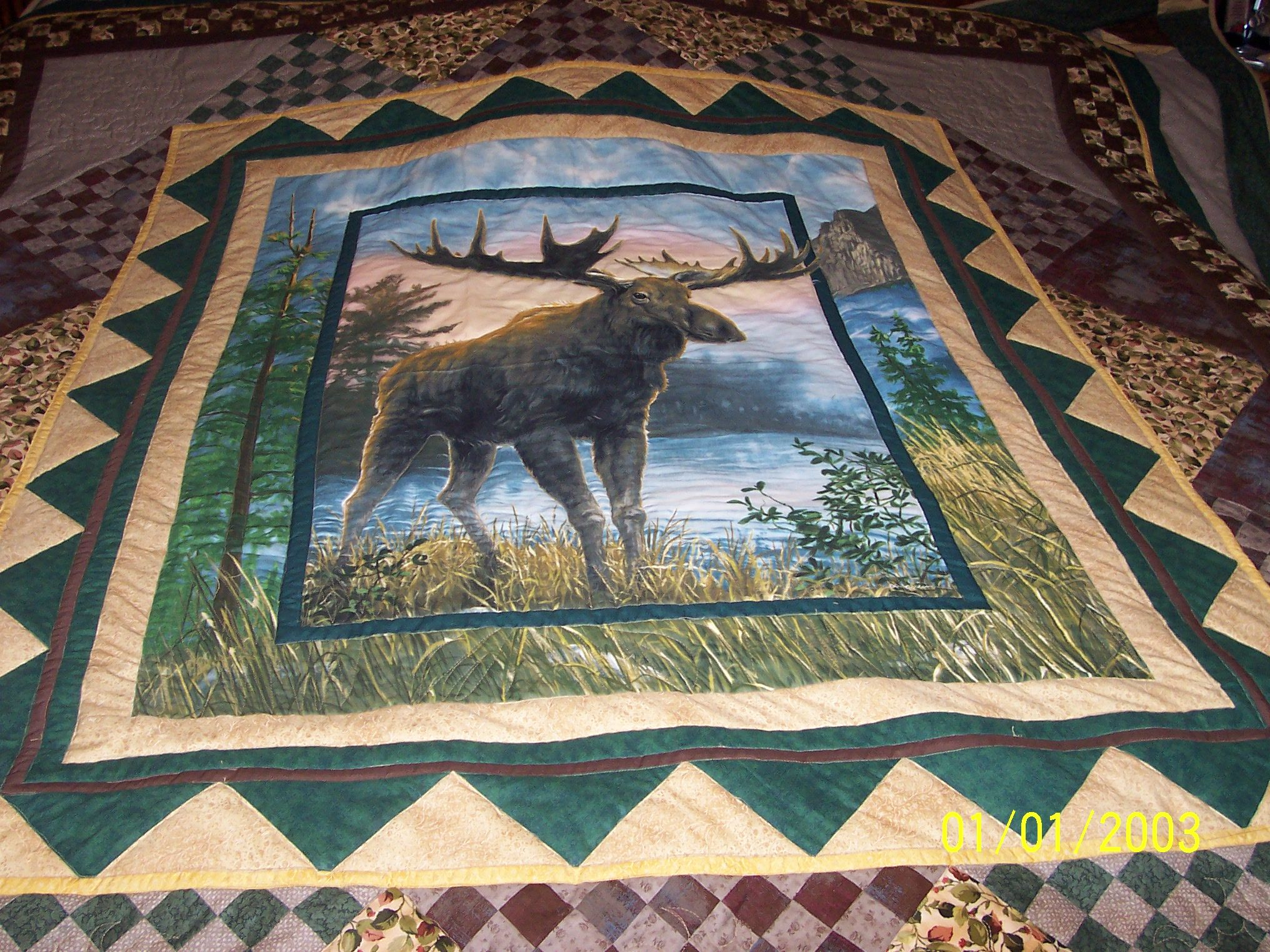 King Size Moose Quilt Quilts Pinterest Moose Quilt