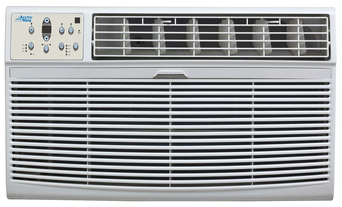 Arctic King Aktw12cr62 12000 Btu 208 230 Volt Through The Wall Air Conditioner W White Air Conditioners Through Wall Cool Only High Efficiency Air Conditioner Air Conditioner Heater Window Air Conditioner