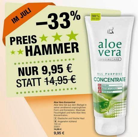 Juli #Preishammer -33% - #AloeVera Konzentrat Viele Anwendungsmöglichkeiten bei Hautproblemen Shop.R-Bender.de