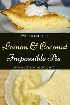Lemon Impossible Pie Recipe - Easy | The WHOot