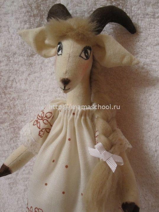 кукла козочка тильда в технике тильда / geit