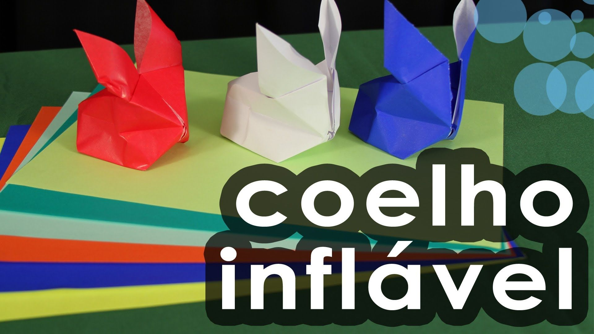 Coelho inflável de origami - Origami inflatable rabbit ... - photo#8