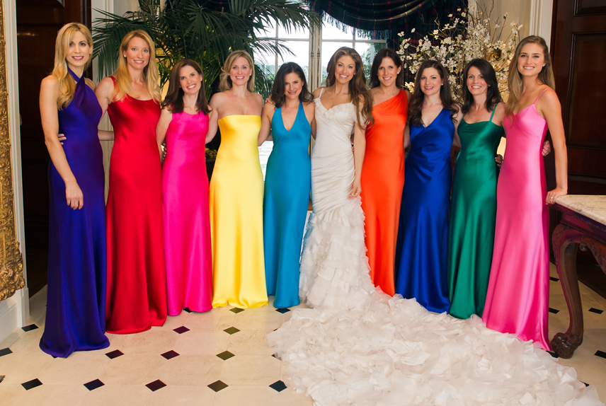 Dylan Lauren Wedding Colourful Bridesmaid Dress