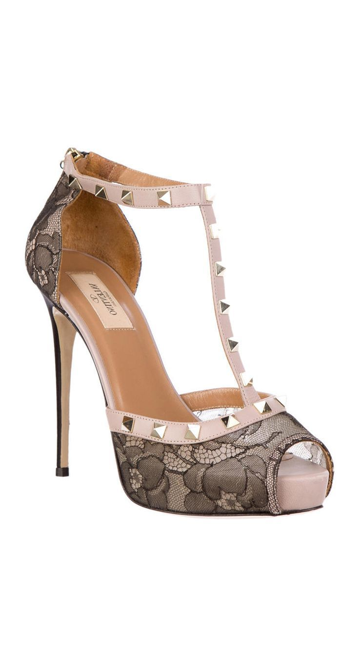 MUST SEE -  Lace studded heels...